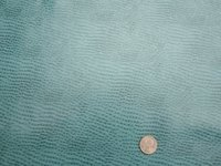 3 3/8 yards of teal ostrich skin vinyl upholstery fabric