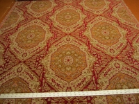 3 7/8 yards Luciano Ruby southwest patterned chenille upholstery fabric