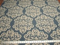 4 3/8 yards of Pindler Cobian lapis print damask drapery/upholstery fabric