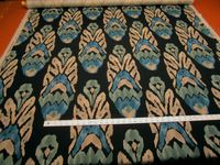 4 3/8 yards of Vervain Asante Peacock print upholstery fabric