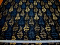 4 7/8 yards Fabricut Ceres sapphire chenille mix upholstery fabric