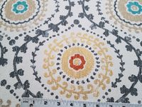 4 yards of Roman Circle chenille mix upholstery fabric r3147