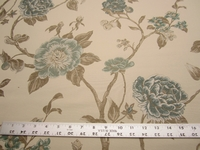 4 yards Robert Allen Large Buds aloe floral upholstery fabric