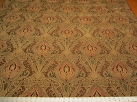 5 1/2 yards of Madison color chutney paisley chenille upholstery fabric