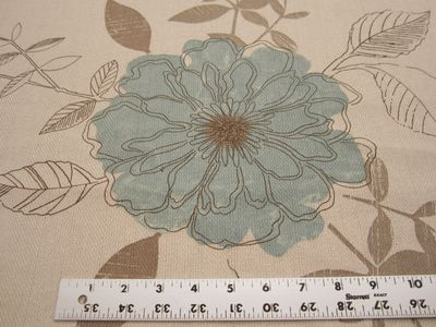 6 1/2 yards of flower pattern print upholstery fabric