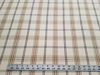 6 5/8 yards of cotton check upholstery fabric