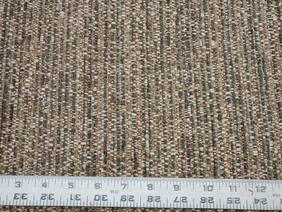 6 yards of heavy corded tweed upholstery fabric