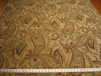 7 3/4 yards Fabricut Lucca Autumn paisley chenille upholstery fabric