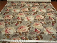 7 7/8 yards of Audrina Charcoal Floral upholstery/drapery print fabric