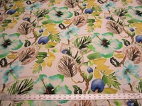 8 1/4 yards of floral jacobean print drapery fabric