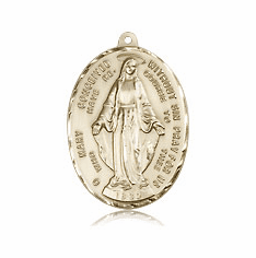 Miraculous Medal 14kt & 18Kt Gold Jewelry