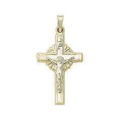 14kt Gold Crucifixes