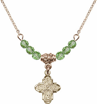 4-Way Chalice Cross Crystal Beaded Necklaces