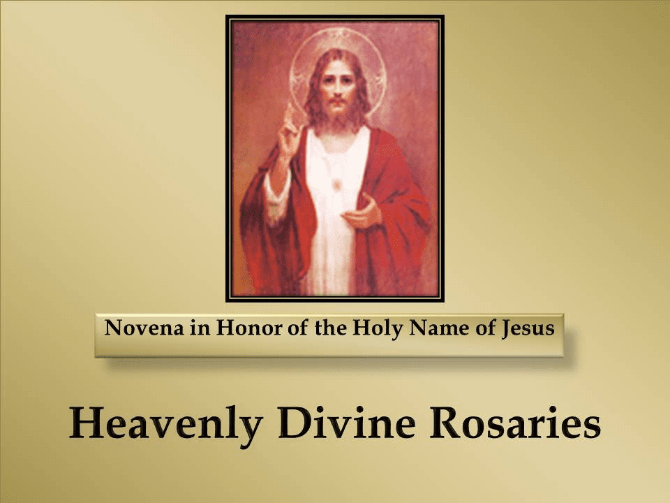 A Novena in Honor of the Holy Name of Jesus