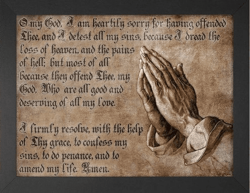 Act of Contrition Prayer