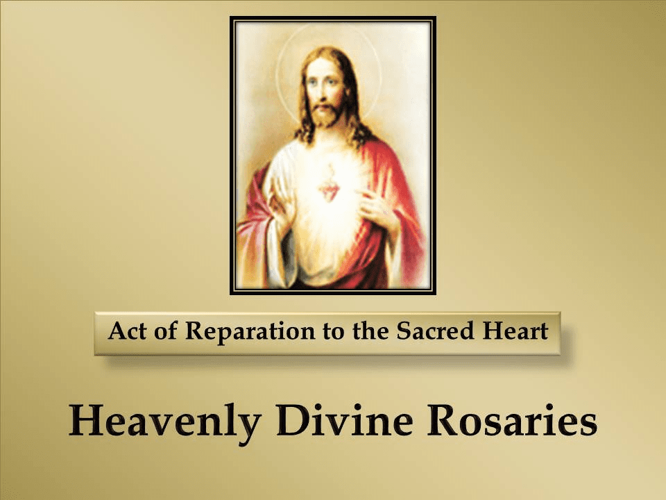Act of Reparation to the Sacred Heart Prayer