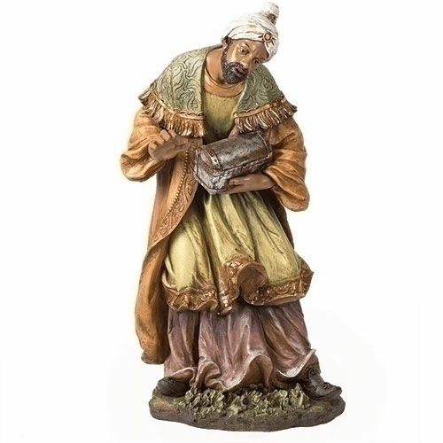 "African Wise Man 39"" Scale Colored Outdoor Christmas Nativity Figure by Joseph Studio"
