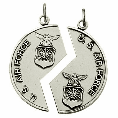 Air Force Mizpah Sterling Silver Necklaces