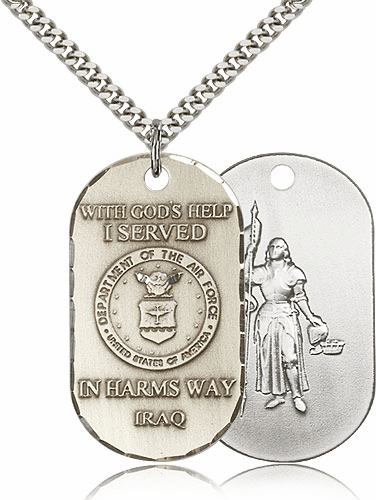 Air Force St Joan of Arc Medal Necklace