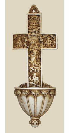 Alabaster Holy Water Fonts