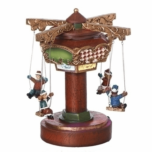 Amusements Christmas Musical Rotating Swing Ride with Children