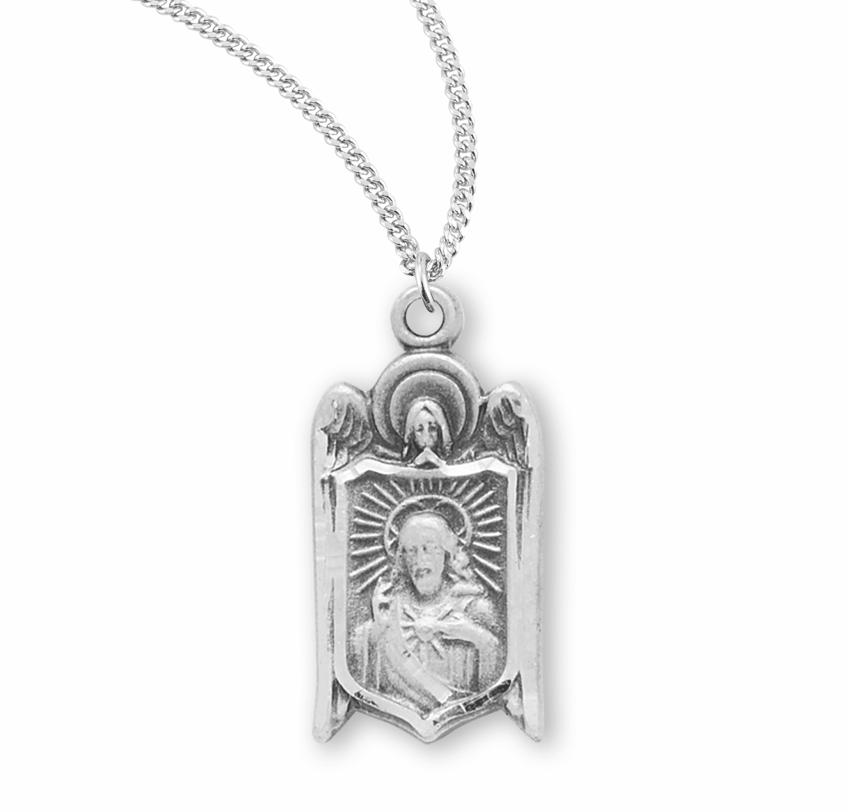 Angel Shields Scapular Sacred Heart of Jesus Christ Medal Necklace by HMH Religious