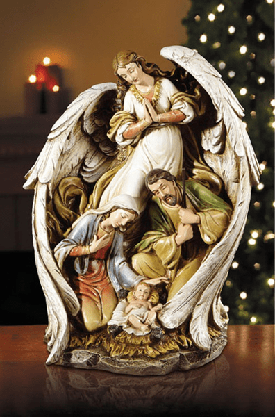 Angel with Wings Spread Christmas Nativity Scene Figurine by Avalon