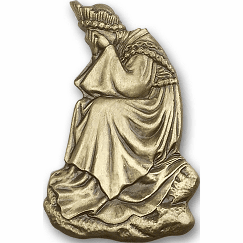 Antique Gold Our Lady of La Salette Visor Clips by Bliss