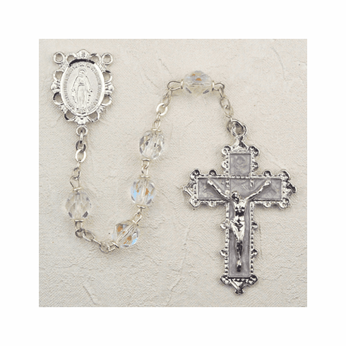 April Crystal Birthstone Prayer Rosary by McVan