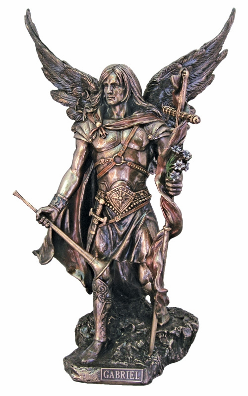 Archangel Gabriel Cold-Cast Bronze Statue by Veronese Collection