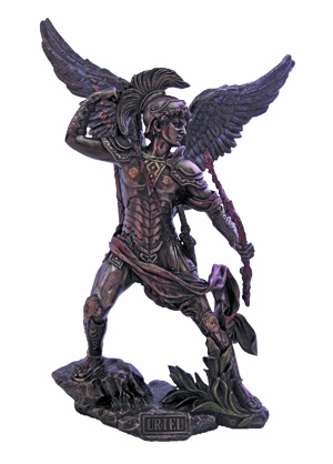 Archangel Uriel Cold-Cast Bronze Statue by Veronese Collection