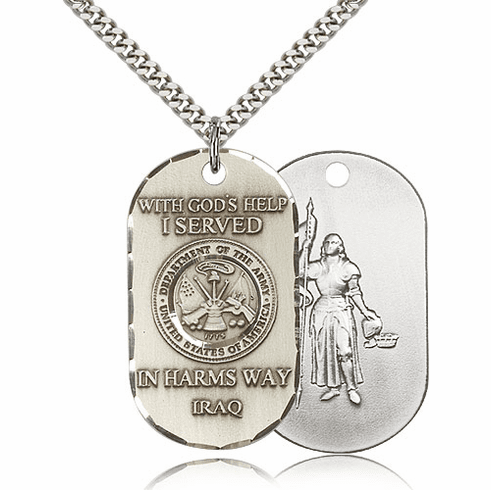 Army St Joan of Arc Served in Iraq Medal