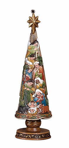 "Avalon Gallery 5"" Nativity Christmas Tree Ornament Figurine"