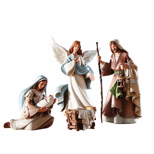 Avalon Gallery Bethlehem Night Christmas Holy Family Nativity Set