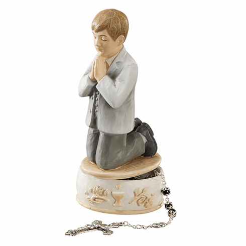 Avalon Gallery Boy's First Holy Communion Rosary Keepsake Box