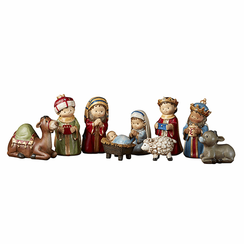 Avalon Gallery Children's Christmas Pageant Nativity Set