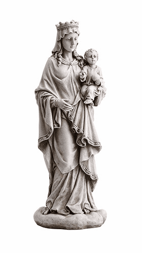 "Avalon Gallery Christian 18.5""  Mary Queen of Heaven with Child Garden Statue"