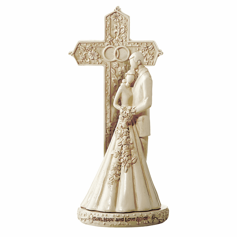 Avalon Gallery Christian Wedding Figurine and Cake Topper