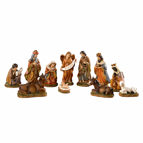Avalon Gallery Christmas 11-Piece Nativity Seth Nativity Set