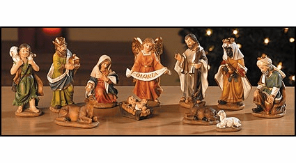 Avalon Gallery Christmas 3.5in 11-PC Nativity Set