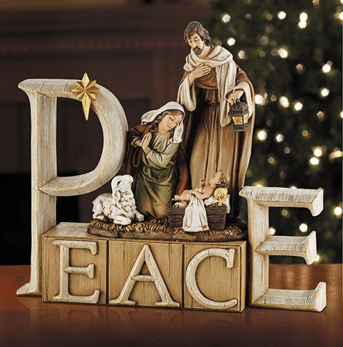 Avalon Gallery Christmas Holy Family Nativity Peace Figurine