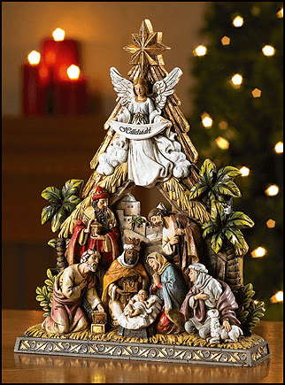 Avalon Gallery Christmas Tree Nativity Figurine