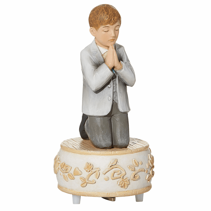 Avalon Gallery First Holy Communion Boy's Musical Figurine