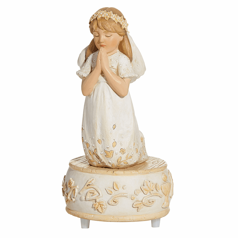 Avalon Gallery First Holy Communion Girl's Musical Figurine