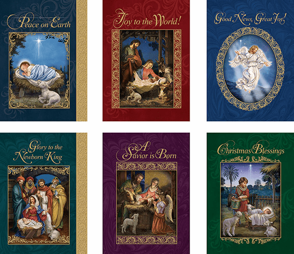 Avalon Gallery God's Gift of Love Christmas 24 Cards with Envelope