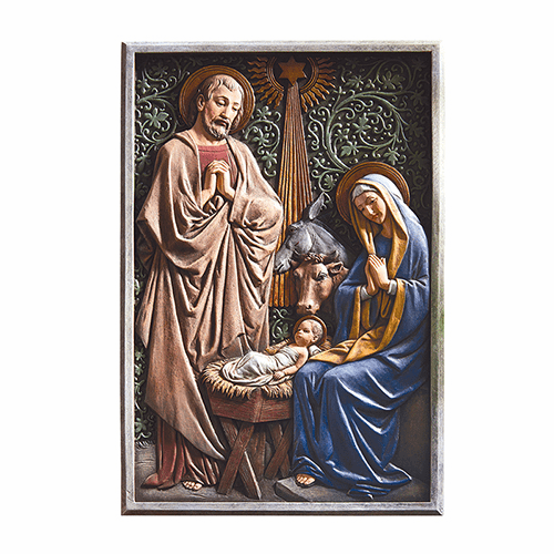 Avalon Gallery Holy Family Nativity Wall Plaque Scene