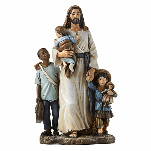Avalon Gallery Jesus with Children Welcome the Stranger Figurine Statue