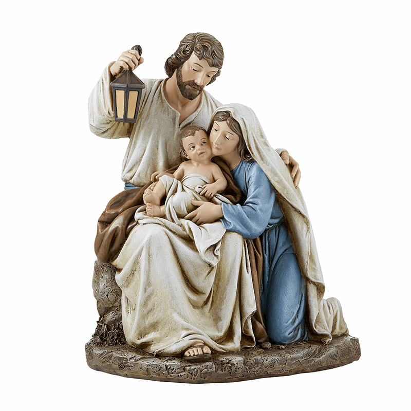 Avalon Gallery Joseph, Mary and Jesus Blessed Holy Family Figurine
