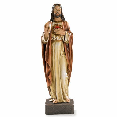 Avalon Gallery Large Sacred Heart of Jesus Religious Statue