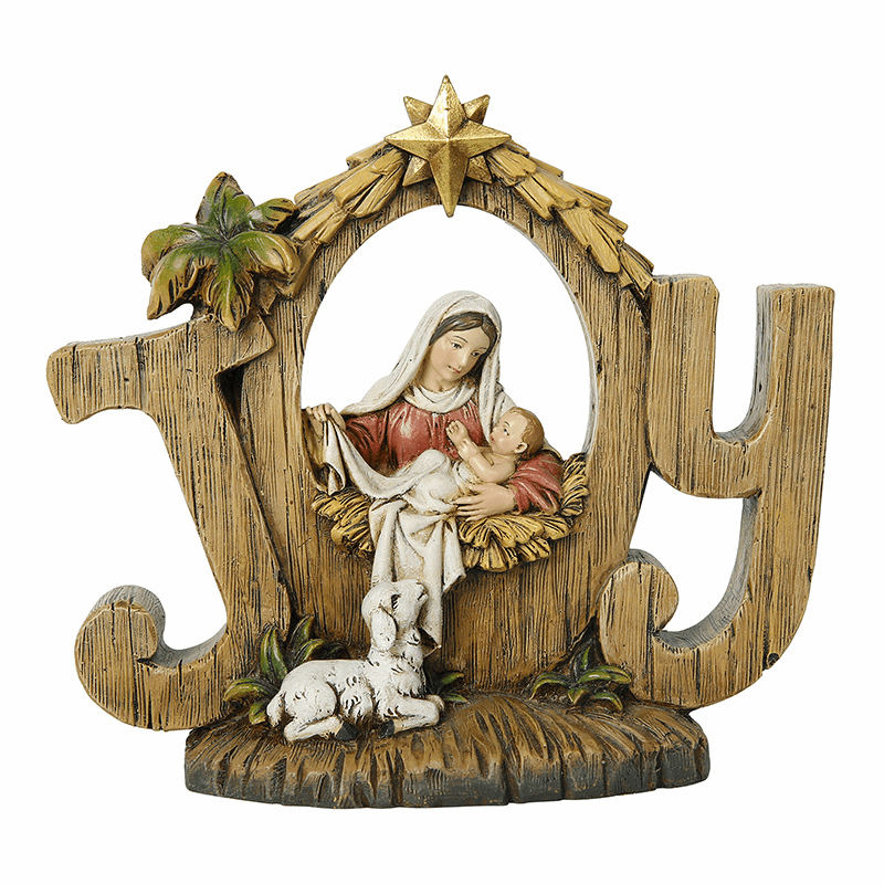 Avalon Gallery Mary and Jesus Christmas Joy Nativity Figurine